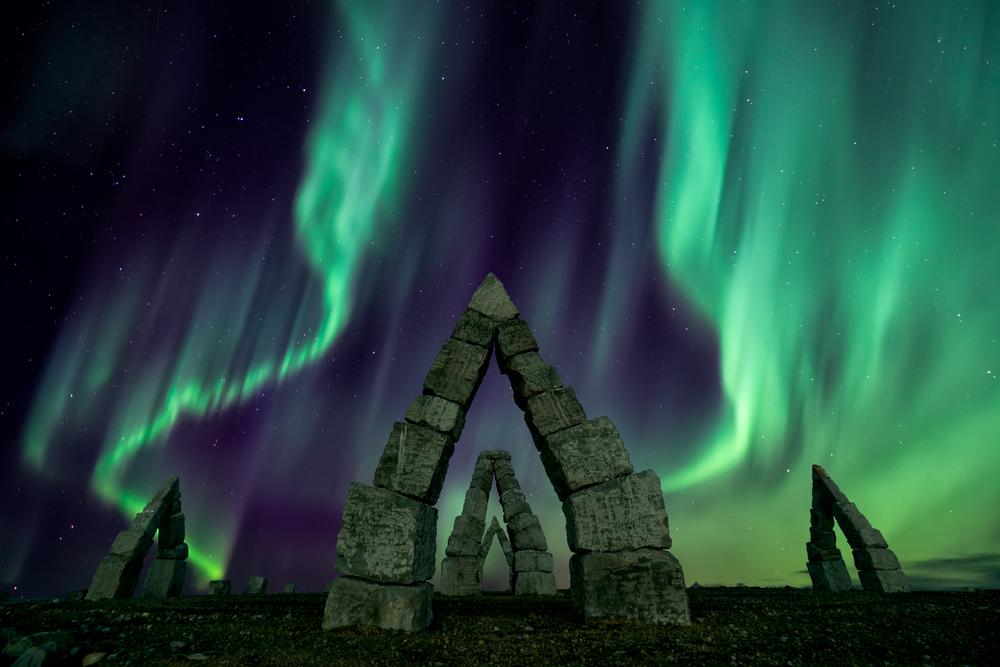Les plus beaux sites d'Islande - Raufarhöfn avec les aurores boréales