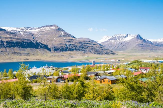 Reydarfjordur dans l'est de l'Islande